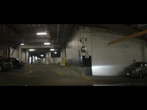 Driving Inside a scary underground Parking garage at Tower C