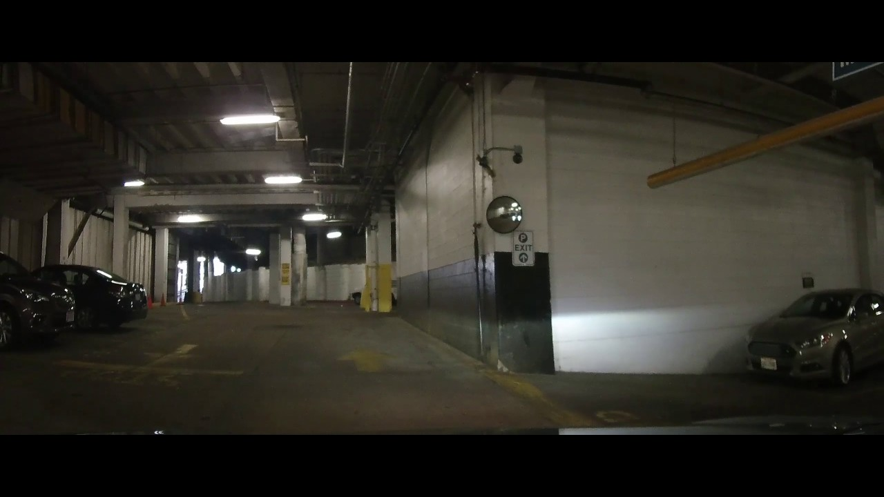 Garage Parking Stop >> Driving Inside a scary underground Parking garage at Tower ...