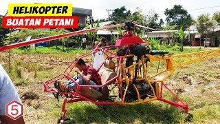 Helikopter Bermesin Sepeda Motor Buatan Tangan Petani Berhasil Terbang