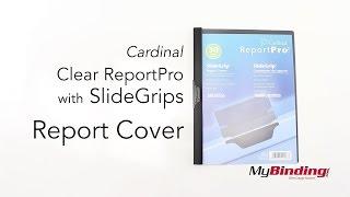 Cardinal Clear ReportPro w SlideGrips Report Cover