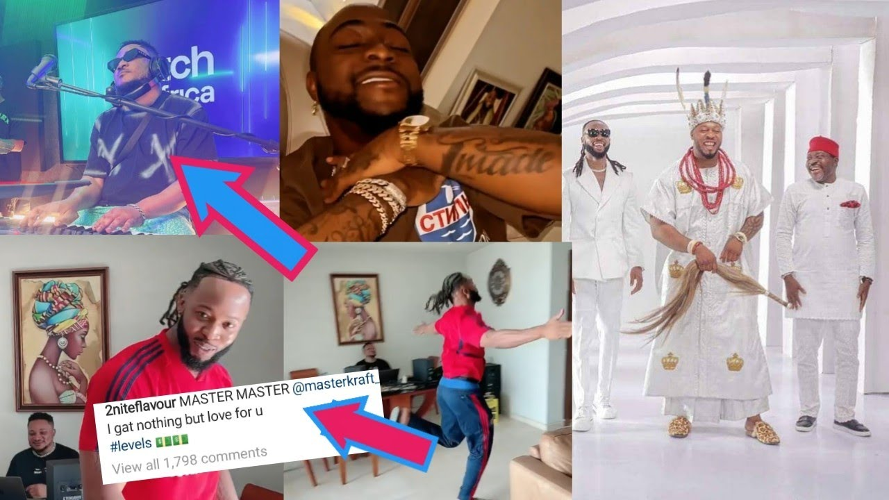 Download Davido,Obi Cubana, & Other Socialite Hail Flavour Over New Song Levels As Flavour Thank Masterkraft