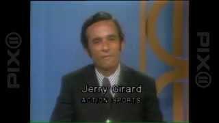 Jerry Girard anchors 1975 WPIX sports report