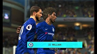 Chelsea vs Crystal Palace 2018 | Willian 2 Goals | Full Match | PES 2018 Gameplay HD