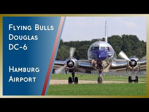 Flying Bulls Douglas DC-6 | Takeoff from Hamburg Airport