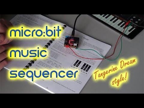 BBC micro:bit music sequencer (Tangerine Dream style)