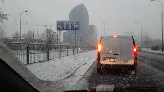 Pierwszy śnieg w Warszawie 20.11.2017 r.