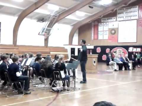 """San Lorenzo Valley Middle School's band performs during """"Schools to Watch"""" ceremony"""