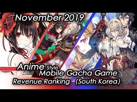 (South Korea) November 2019 Anime Gacha Mobile Game Revenue Review#이차원대전 IOS & Android