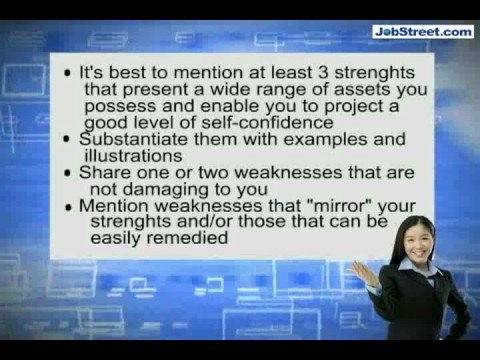 What are your strengths and weaknesses? - YouTube