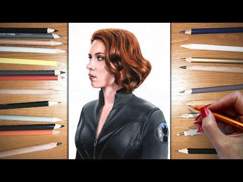 Speed Drawing: Black Widow - Scarlett Johansson