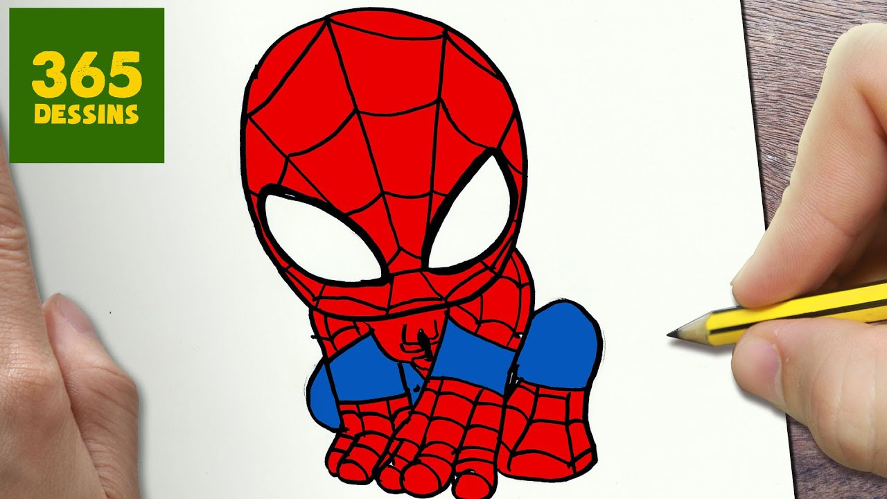 comment dessiner spiderman kawaii tape par tape dessins kawaii facile