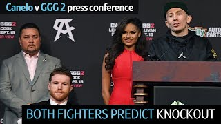Canelo v GGG 2: Official pre-fight press conference