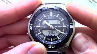 часы Casio Illuminator AQ-164WD-1A - Инструкция, как настроить от PresidentWatches.Ru