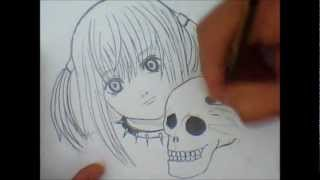 how to draw Misa Amane death note