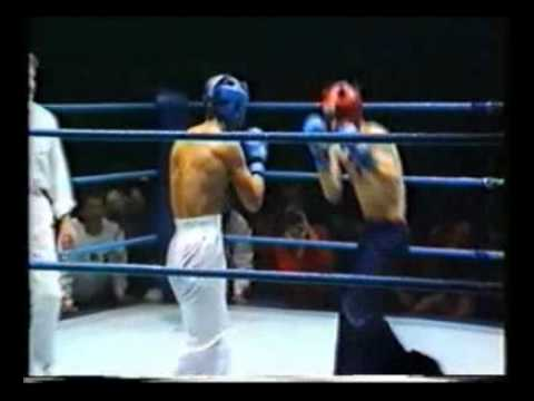 Kickboxen Finalkampf WM 1985 Michael Kuhr vs  Gerry Kid (Irland) Kickboxing  Fight