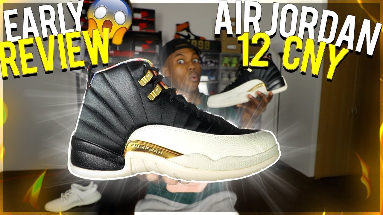 6b8a71606421 AIR JORDAN 12 CHINESE NEW YEAR 2019 DETAILED EARLY REVIEW!  WATCH BEFORE  YOU BUY