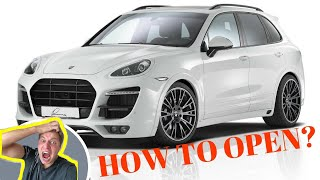 PORSCHE CAYENNE HOW TO OPEN / UNLOCK AND START? DEAD KEY REMOTE | FOB