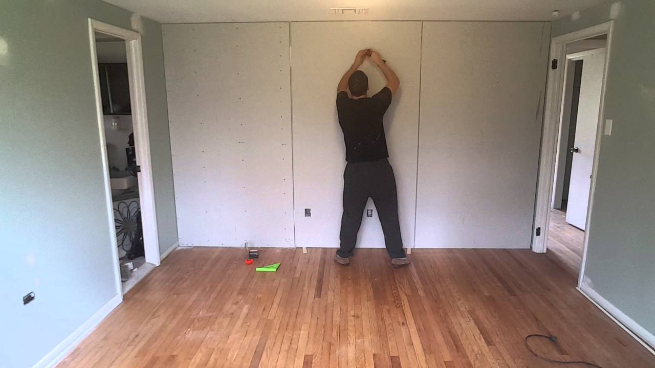 Sound Proofing Wall Green Glue Amp Double Drywall Youtube
