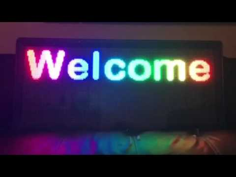 LED sign demostration 3 (UK Stock)