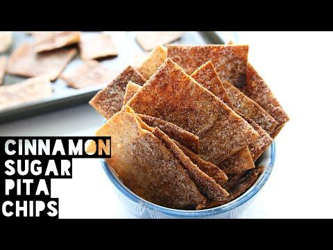 How To Make Healthy Low Calorie Cinnamon Sugar Pita Chips | Cinnamon Toast Crunch Recipe