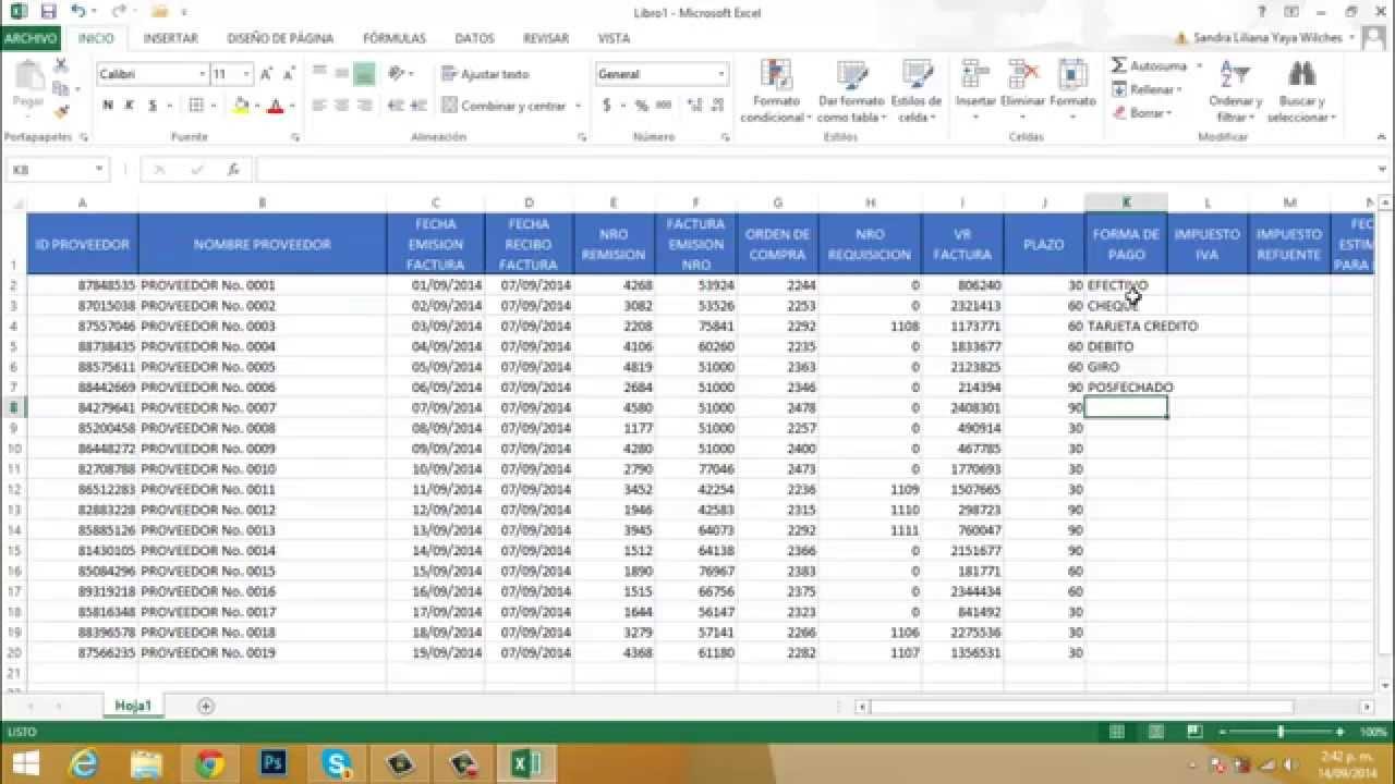 Videos Ciclo Of2013 Excel 26 Proyecto Cuentas por Pagar Proveedores ...