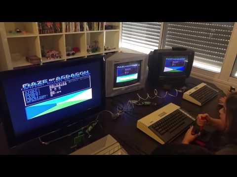 Atari 800 XL network game Maze of Agdagon Demonstration