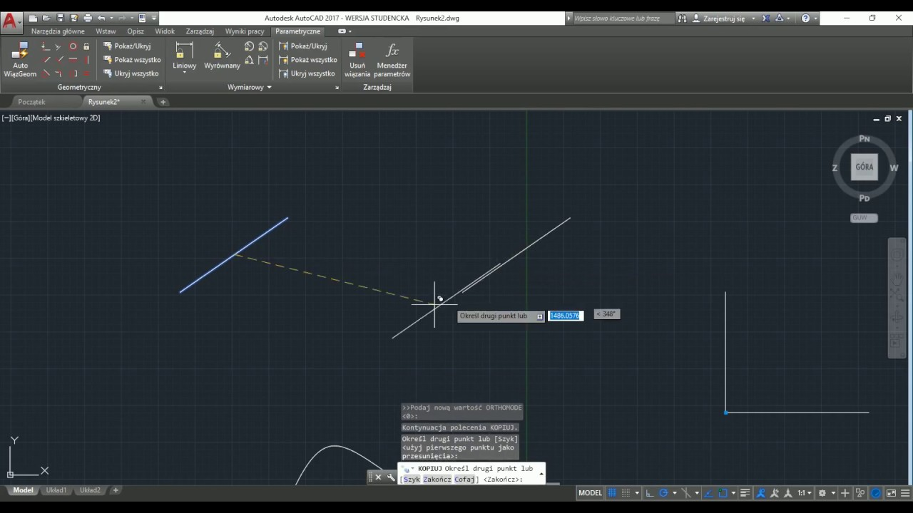 AutoCad 2017 - wiązania geometryczne i wymiarowe
