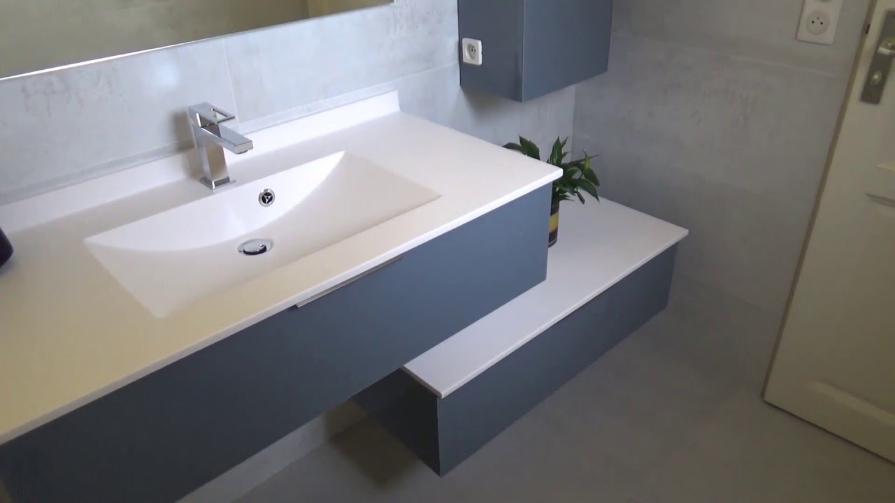 Meuble salle de bain en d cal moderne et design atlantic bain youtube for Photo sdb moderne