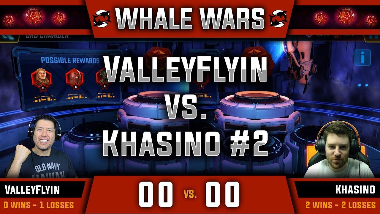 Whale Wars - Ep  05 - ValleyFlyin vs Khasino #2 ($100+ Red Star Orb  Opening) - MARVEL Strike Force