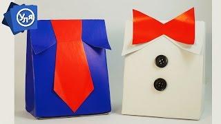 Коробка на 23 февраля ''Рубашка'' (Своими руками из картона)