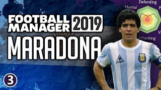Maradona in Football Manager 2019 - Part 3 | FM19 Legends Reborn Experiment