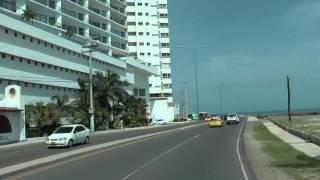 Cartagena, desde el aeropuerto hasta la ciudad amurallada.  Airport to the walled city
