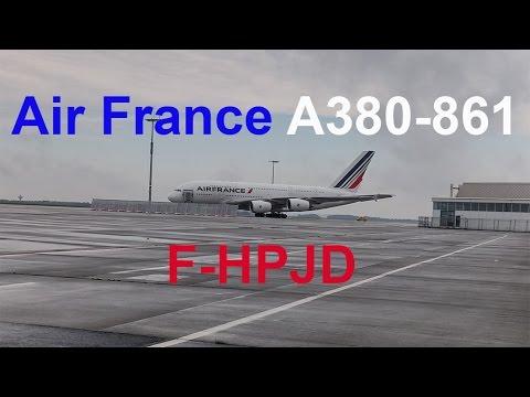 A380 Air France F-HPJD am Flughafen Dresden // HD // 2016-19-09