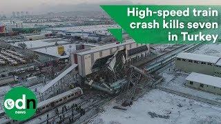 High-speed train crash kills seven in Turkey