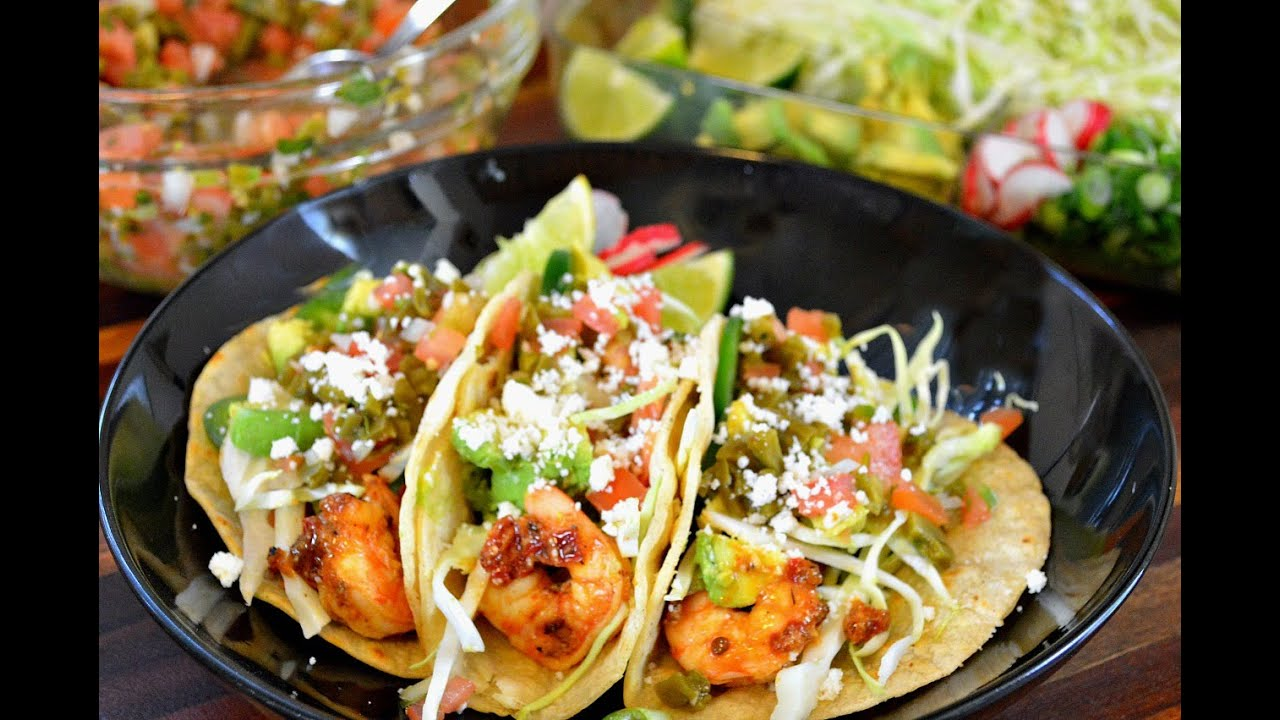 GRILLED SHRIMP TACOS |Cooking With Carolyn