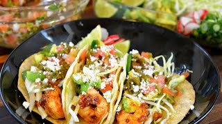 Grilled Chipotle Shrimp Tacos Recipe | Vegetarian Option Included | Cooking With Carolyn
