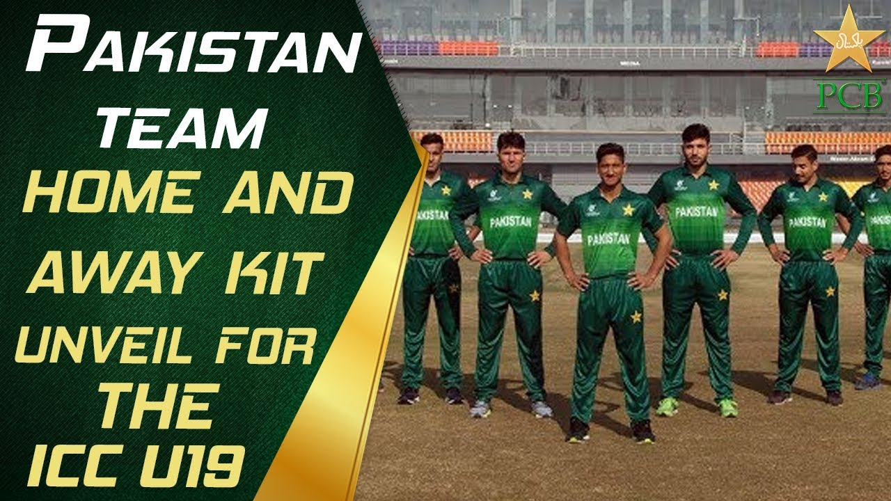 Pakistan team home and away kit unveil for the ICC U19 Cricket World Cup 2020