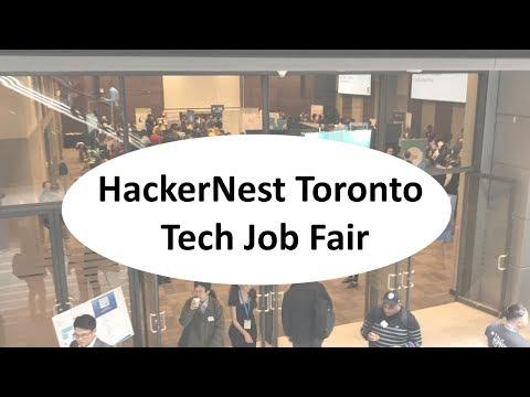 HackerNest Toronto Tech Job Fair. May 2017.