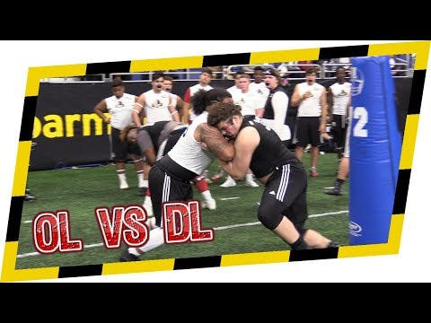 🔥 OL V DL 1 On 1s 🔥 US Army Bowl Combine Highlights! Guys Are Going Hard Out There!