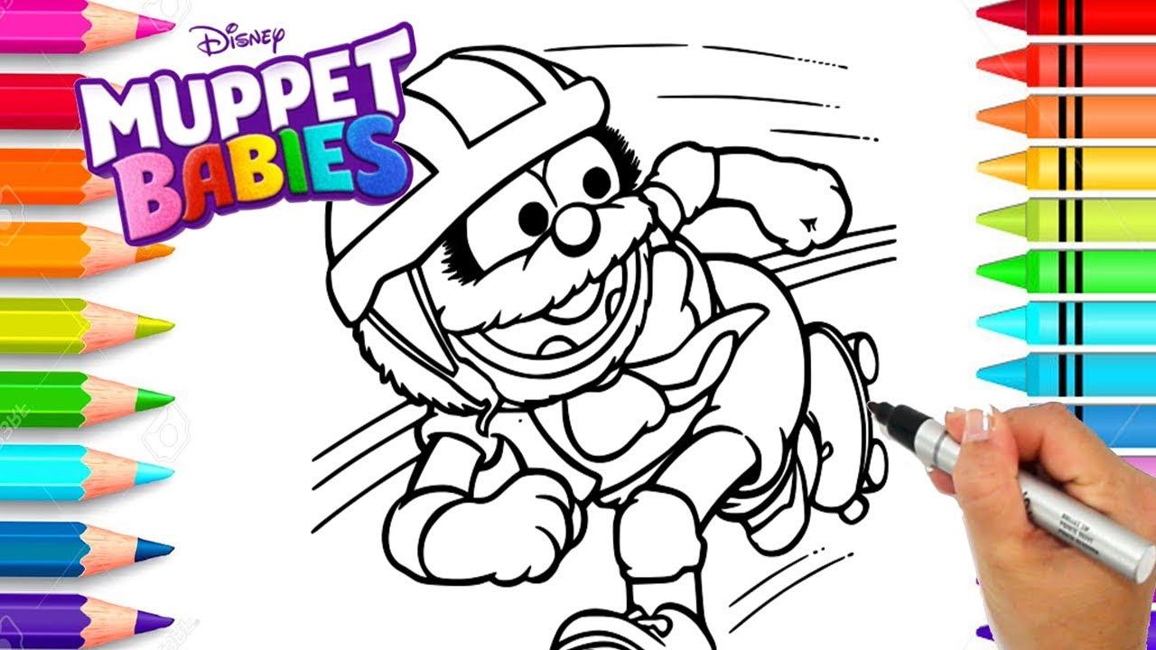 Disney Muppet Babies Animal Coloring Page | Disney Muppet Babies ...