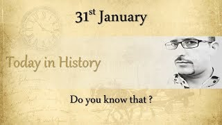#031 Today in History: 31st January | What happened on this day in History? | Hindi | AV EduTech