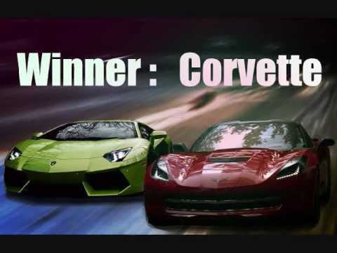 C7 Corvette Stingray Destroys Lamborghini Aventador 1 4 Mile Top Gear