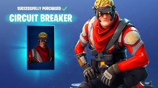 Fortnite Battle Royale - CIRCUIT BREAKER Rare Skin Showcase