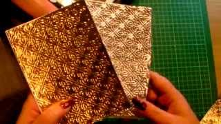 43. Technique: Use Kitchen Foil with Embossing Folders for Cardmaking