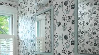 видео Обои для ванной комнаты