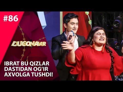 Dugonalar Shou 86-son Ibrat bu qizlar  dastidan og'ir  axvolga tushdi! (21.11.2019)