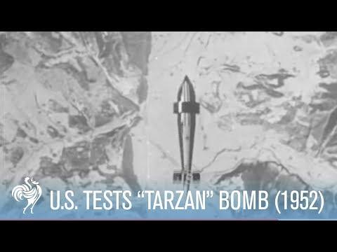 "Precision Bombing Tests (1952) - USA invent new bomb ""Tarzan"""