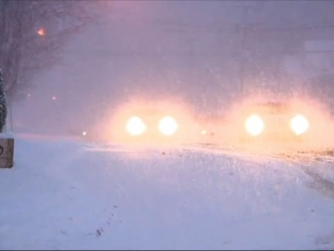 Raw: Southern Michigan Blanketed in Snow