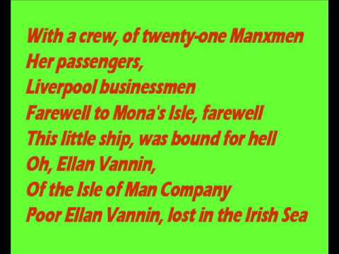 The Ellan Vannin Tragedy   written by Hugh Jones   sung here by John Haines SD
