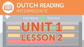 Intermediate Dutch Reading - A Late Train in the Netherlands thumbnail